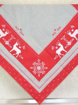 Τραπεζοκαρέ Χριστουγεννιάτικο 90x90 Ελαφάκια 0741