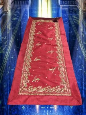 Κέντημα Σαντούκ με Χρυσοκλωστή Σετ 4 Τεμαχίων Red Gold India