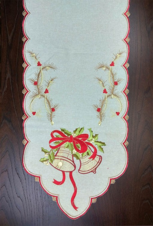τραβέρσα-χριστουγεννιάτικη-λινή-Viscose-45χ180-με-κέντημα-1707