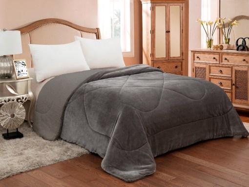 Κουβερτοπάπλωμα-Υπέρδιπλο-Flannel-220×240-ADAM-809-Grey