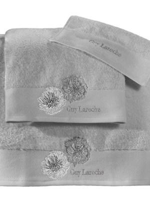 Πετσέτες Σετ 3 Τεμαχίων Guy Laroche Bolero Silver