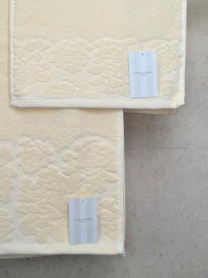 Πετσέτες Σετ τριών τεμαχίων LAURA ASHLEY Rice Cream