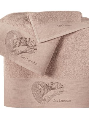 Πετσέτες Σετ 3 τεμαχίων Guy Laroche Alora Old Pink