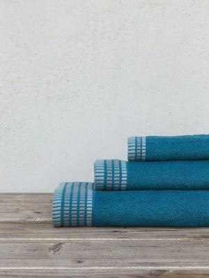 Πετσέτες Σετ 3 τεμαχίων NIMA Siren Blue
