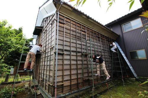 改装 リフォーム 蔵 民家 壁 塗装 福井 スタジオ・カーサ
