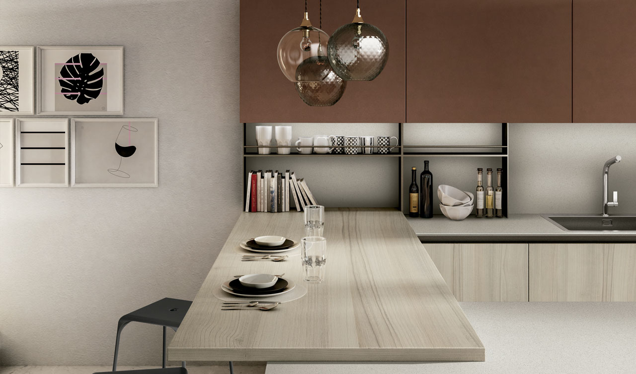 Modern Kitchen Arredo3 Cloe Model 6