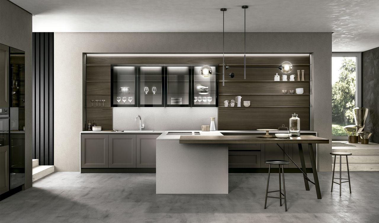 Modern Kitchen Arredo3 Cloe Model 01