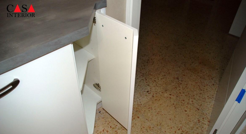 Küchentime Flash Alpine White High Gloss Alfaz del Pi - Corner Unit