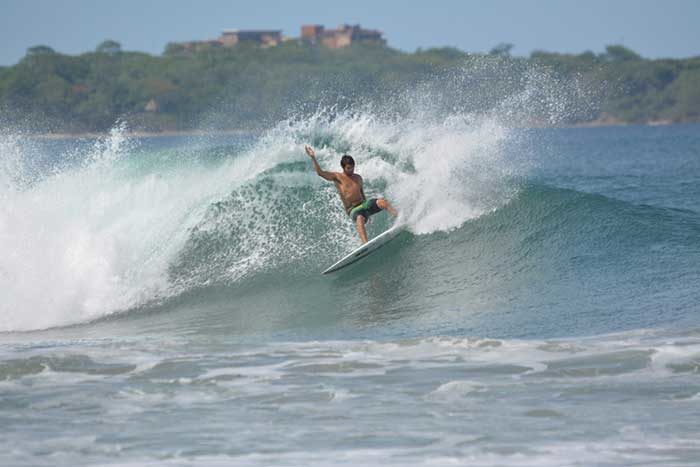 Surfing in Playa Grande