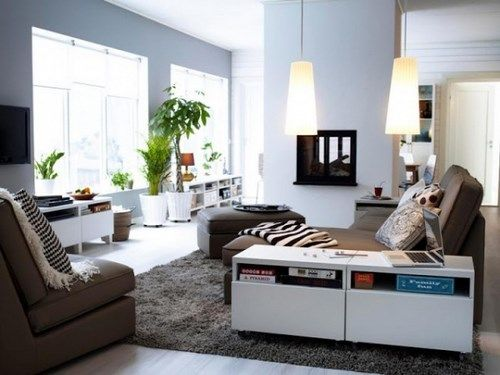 Decoracion de Living modernos 2013 blanco y marron  Casa Web