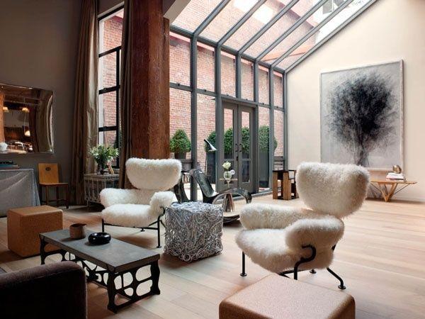 sala estilo industrial  Casa Web