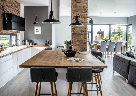 Integrar la cocina con livig comedor  Casa Web