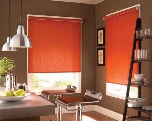 cortina roller naranja  Casa Web