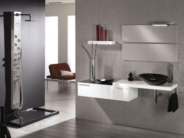 amoblamiento para bao minimalista  Casa Web