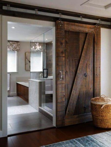 puertas madera reciclada tipo granero para bao  Casa Web