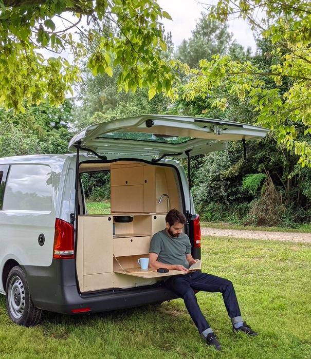 Designer transforma carro em casa para acampamentos 01 Vision Art NEWS