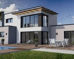 Construção de moradia moderna