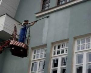 Pintura de fachada edifício