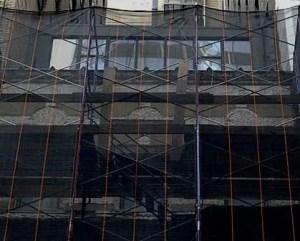 Reabilitação de edifícios rede de proteção