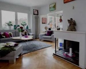 Remodelação de apartamento com lareira