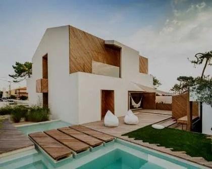 Constru o de casa moderna com piscina casa amarela obras for Casa moderna 2017