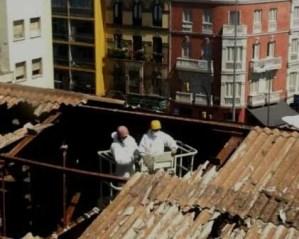 Recuperação de telhados remoção de amianto