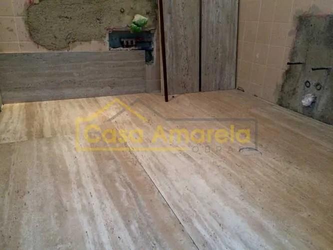 Remodelação de casa de banho pavimento