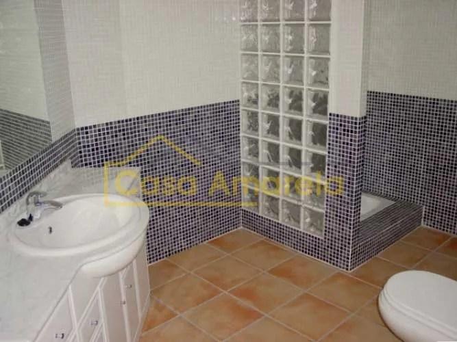 Remodelação de casa de banho tijolo de vidro