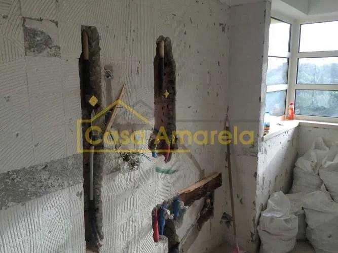 Remodelação de cozinha no Porto em andamento
