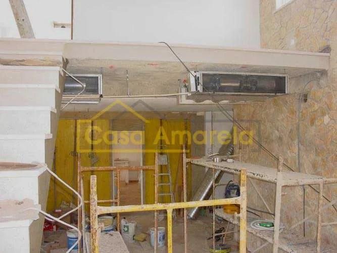 Remodelação de interior em andamento