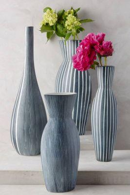 Vasos Listrados - Casa Ao Cubo - Fonte: Pinterest - anthropologie.com - LISTRAS