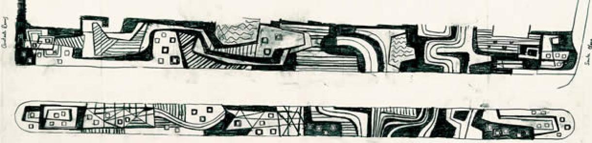 Croquis de Burle Marx para o projeto do calçadão de Copacabana - istoe.com.br