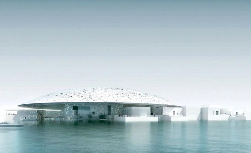 Ilustração em 3D do Louvre Abu Dhabi - Jean Nouvel - Imagem TDIC Design Ateliers Jean Nouvel
