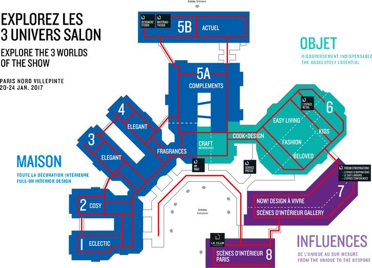 Mapa da exposição