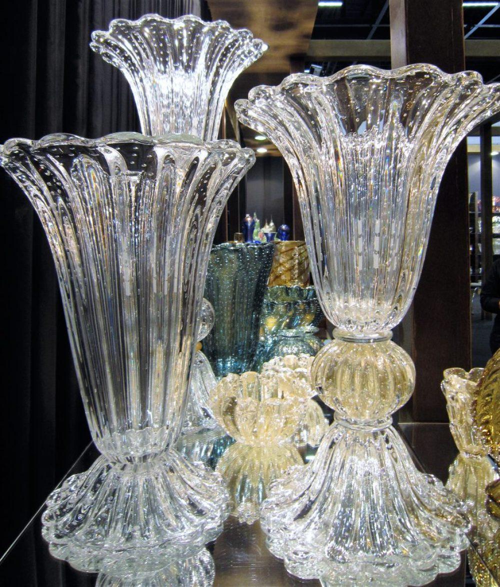 Belas peças em cristal da empresa DiMurano. Imagem : Adriano Gronard Local: 23ª edição da ABIMAD