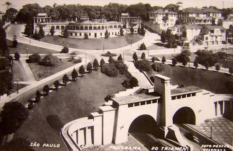 Em cima, o Belvedere Trianon, ponto de encontro da elite paulistana. Abaixo, o túnel da Avenida 9 de Julho já pronto. Casa Ao Cubo Foto: Site O Estranho Mundo Do Pato.