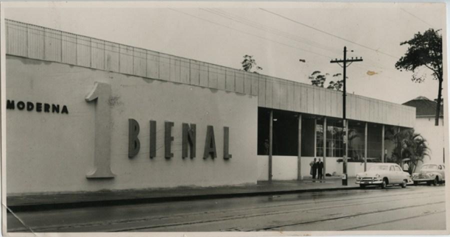 Pavilhão da primeira Bienal de São Paulo, em 1951. Casa Ao Cubo. Foto: Site SP City.