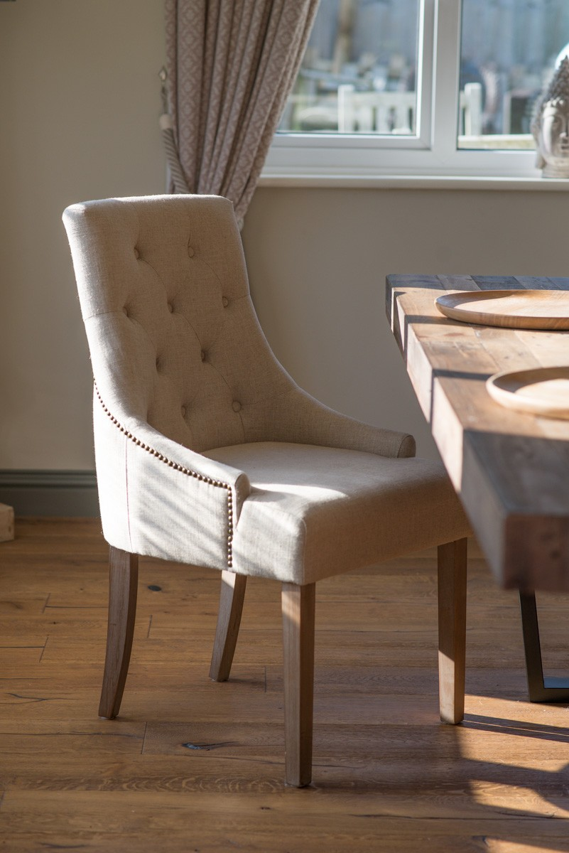 Studded Dining Chairs Richmond Studded Fabric Dining Chair