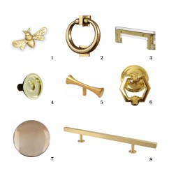 Gold Kitchen Hardware Soap Dispenser For Acrylic Door Knob Shop Brainerd Satin Nickel And Clear