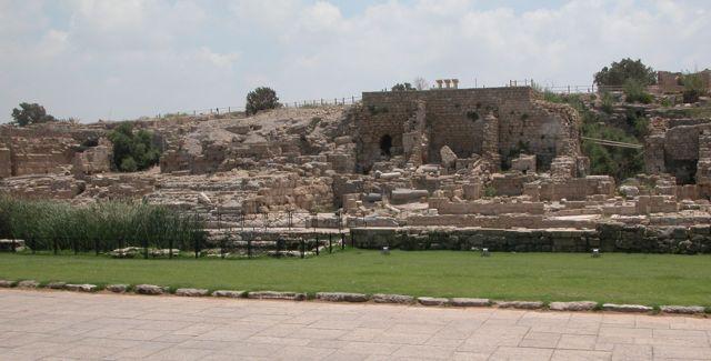 Caesarea Harbor ruins