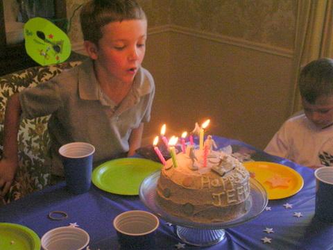 Jeffrey birthday 2009 candles