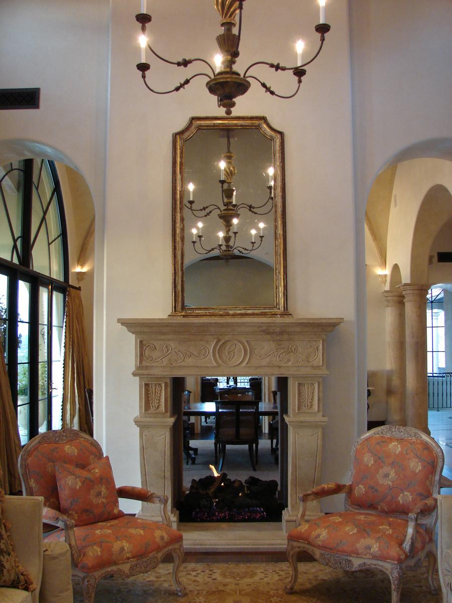 limestone u0026 travertine fireplace casa de cantera