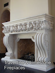Travertine & Limestone Fireplaces - Casa de Cantera