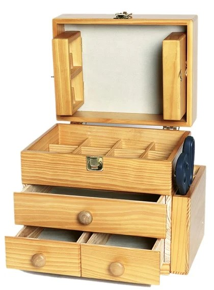 Wooden Sewing Box : wooden, sewing, Country, Wooden, Sewing, Stafil, Organizers,, Baskets,, Boxes, Accessories,, Fashion, Haberdashery, Cenina