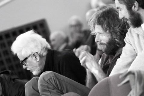 L'indimenticabile Mario Crespan, con Ivo Ferrari ed Ettore De Biasio | Foto di Alessandro Pianalto