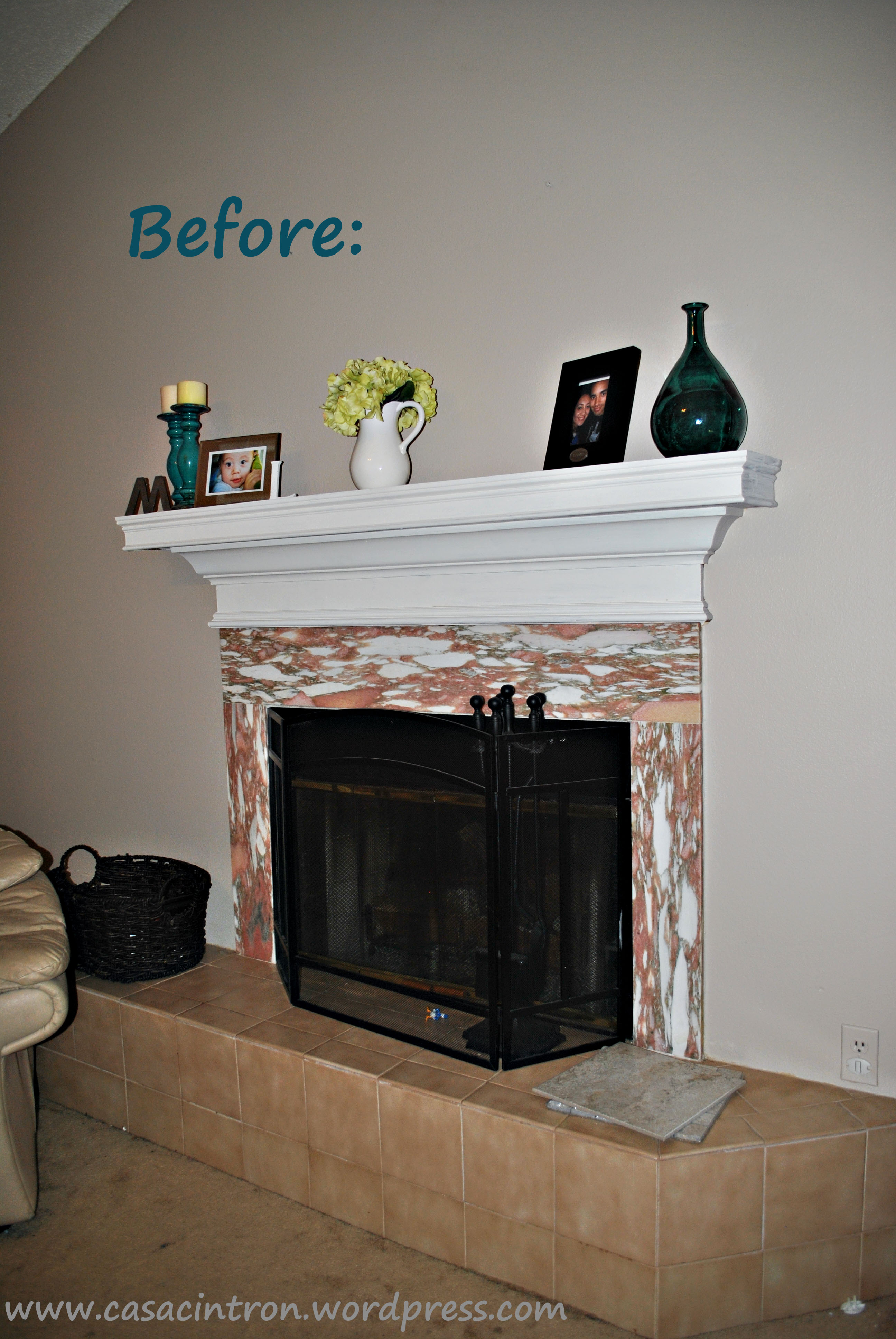 How To Tile Fireplace Makeover Phase One