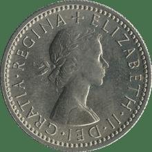 British_sixpence_1962_obverse