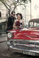 Alternative Rockabilly style wedding
