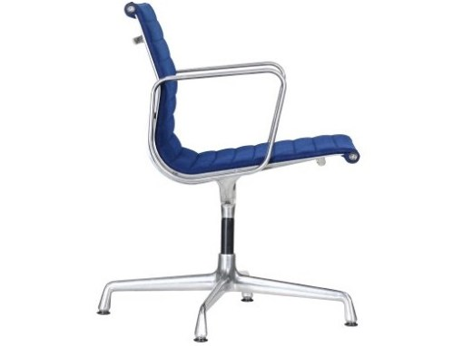 Vitra Eames EA108 blue hopsak aluminium group chair 3a