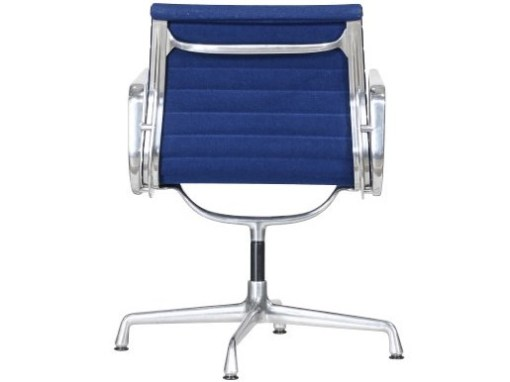 Vitra Eames EA108 blue hopsak aluminium group chair 4a